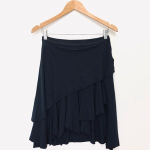 Free People Layered Skater Black Skirt